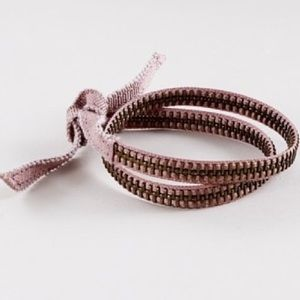 J Crew Double-Wrap Zipper Bracelet